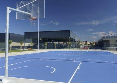 Cancha de baloncesto del Centro Deportivo Supera Rivas La Luna (©Fernando Galán)