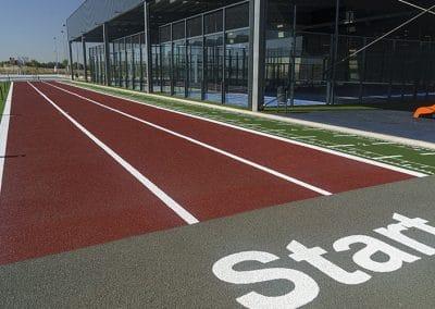Pista de atletismo del Centro Deportivo Supera Rivas La Luna (©Fernando Galán)