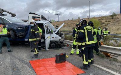 Muere un operario de grúa en un accidente en el kilómetro 13 de la A-3