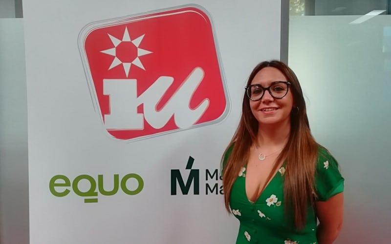 Aída Castillejo, portavoz de IU-Equo-Más Madrid en el Ayuntamiento de Rivas Vaciamadrid