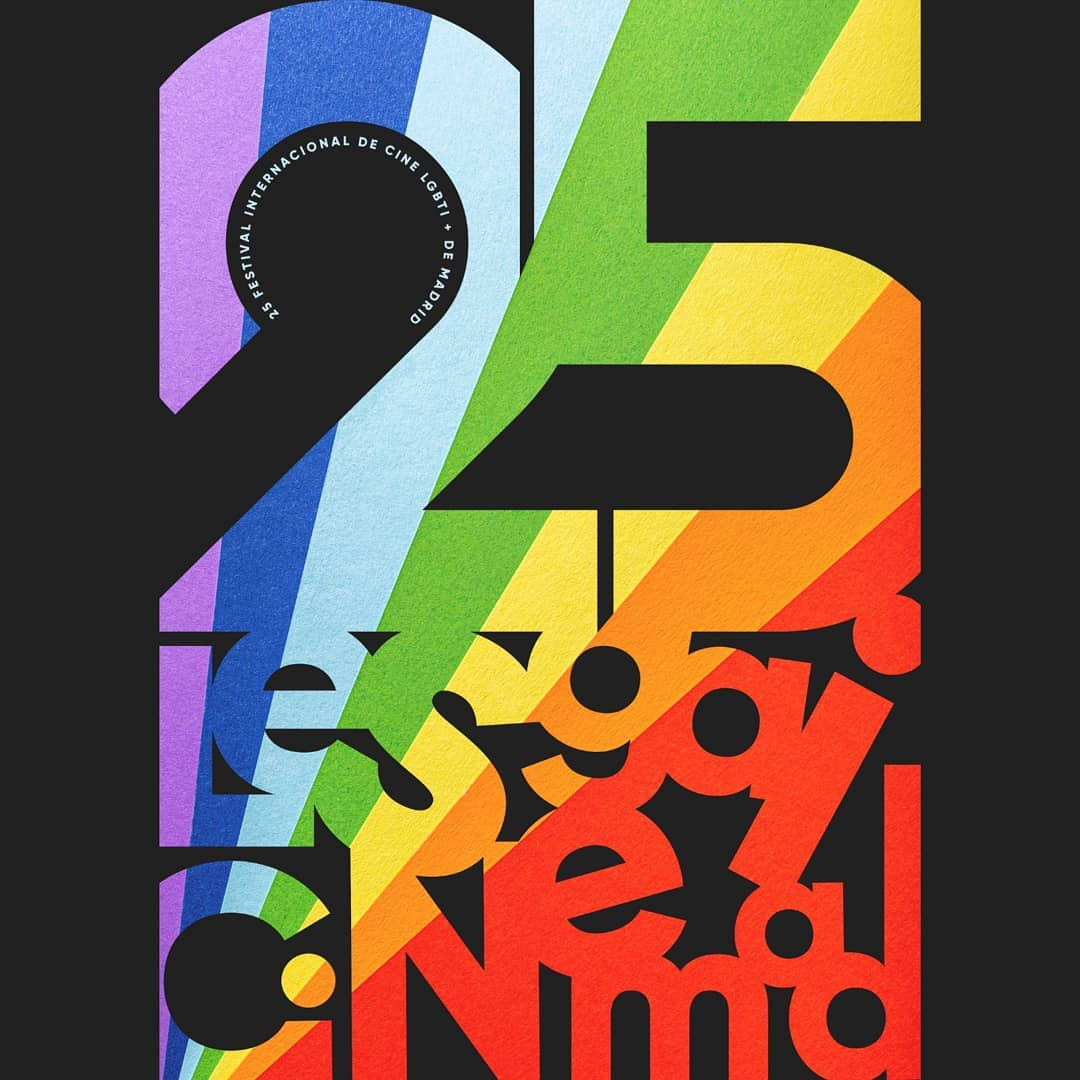 Cartel de la 25ª edición de Les Gai CineMad