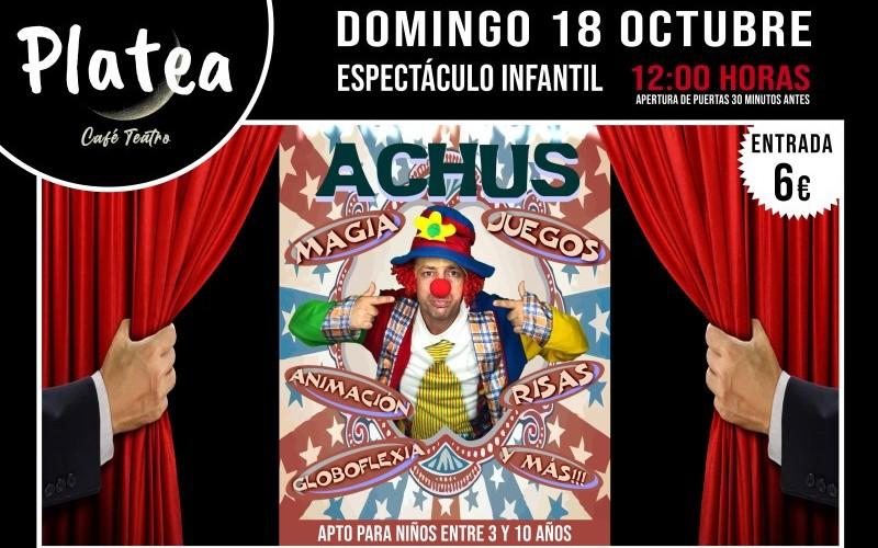 'Achús': espectáculo infantil en Platea Café Teatro