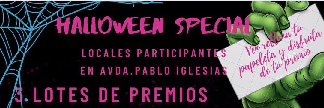 La 'avenida del terror' de Rivas: Halloween en los soportales de Pablo Iglesias