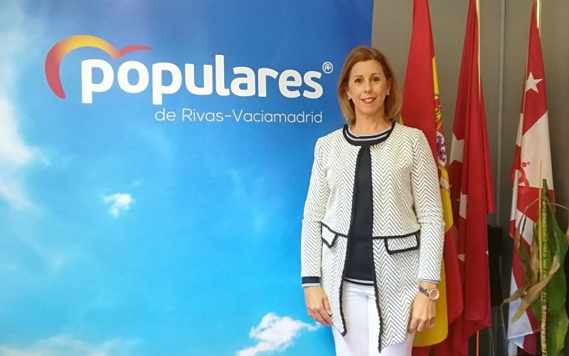 Janette Novo, en el despacho del Grupo Municipal del PP en el Ayuntamiento de Rivas Vaciamadrid