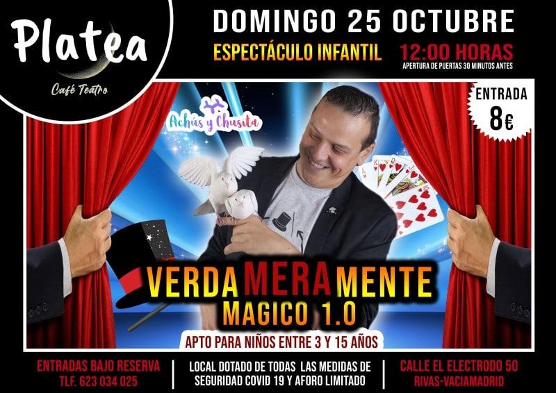 'Verdameramente mágico 1.0': espectáculo infantil en Café Teatro Platea