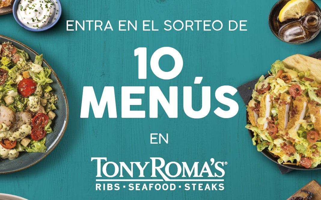 El restaurante Tony Roma's de H2O sortea diez menús de auténtica comida americana