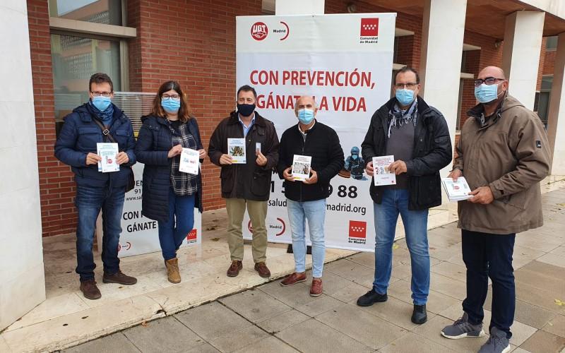 UGT instala en Rivas un 'stand' para informar sobre prevención de riesgos laborales