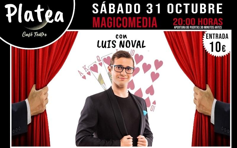Tarde noche de magia y comedia en Café Teatro Platea
