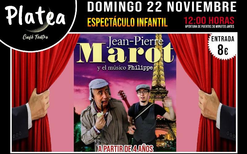 Jean-Pierre Marot y el músico Philippe Café Teatro Platea