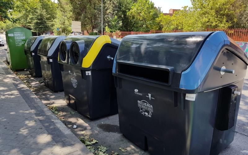 Isla de contenedores en Rivas Vaciamadrid