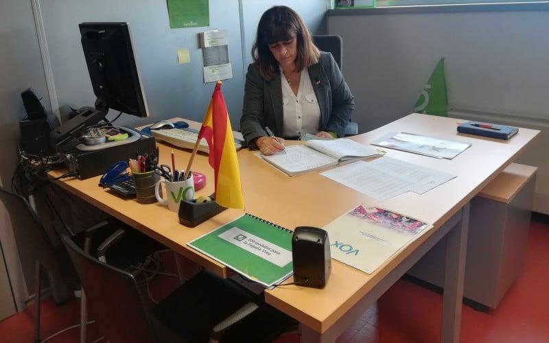 María Ángeles Guardiola, en su despacho del Ayuntamiento de Rivas Vaciamadrid