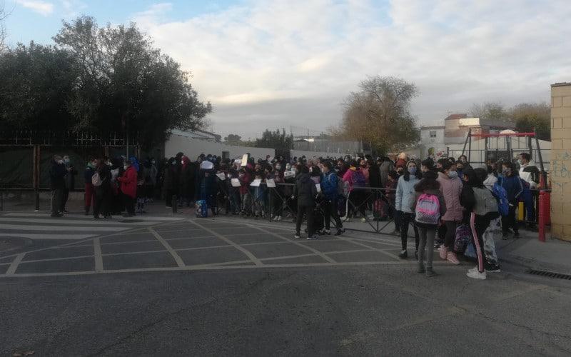 Unas 200 personas se manifiestan en la Cañada, a su paso por Rivas: «Llevamos 8 días sin luz»