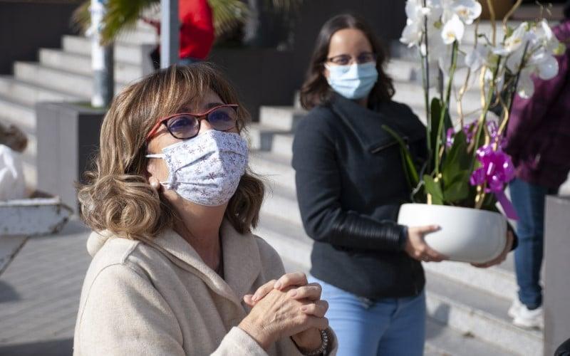 Homenaje por la jubilación de Toñi, matrona del Centro de Salud Santa Mónica