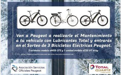 Ven a Iluscar Peugeot Rivas o Arganda y participa en el sorteo de tres bicicletas eléctricas valoradas en más de mil euros