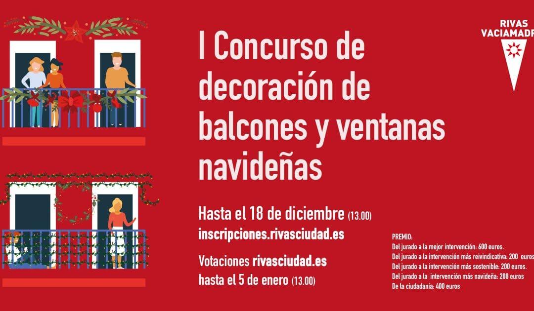 Rivas invita a toda la ciudadanía a participar en un concurso navideño de balcones