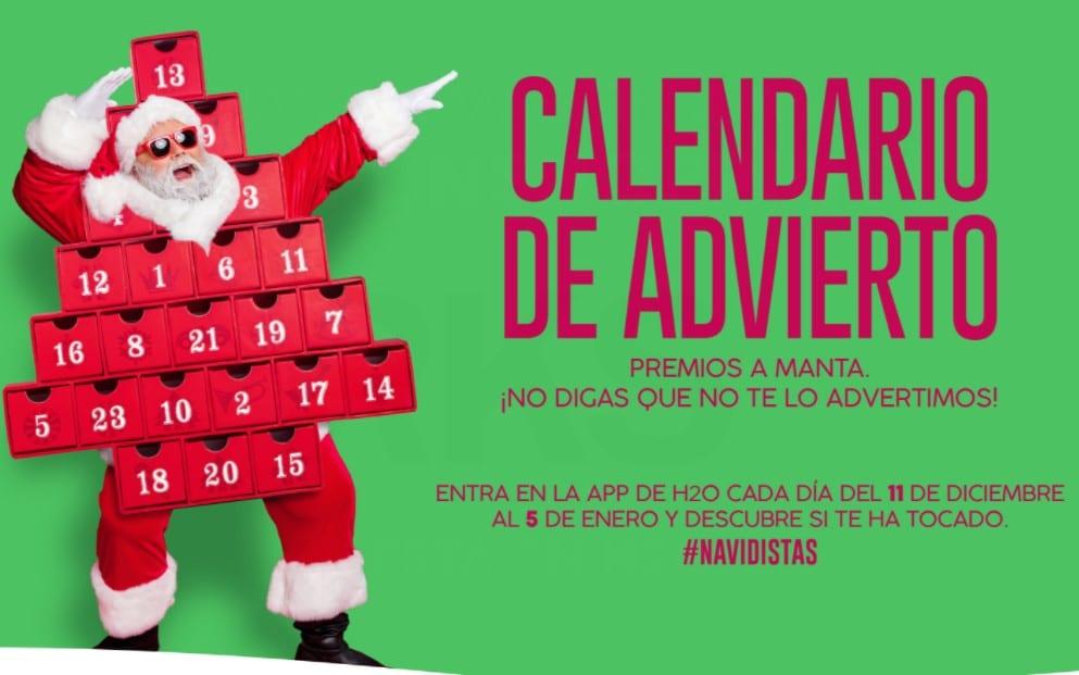 Participa en el Calendario de 'Advierto' del centro comercial H2O