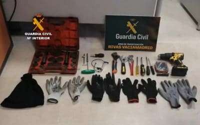 La Guardia Civil desmantela una banda dedicada al robo de establecimientos en Rivas, Arganda y Valdemoro