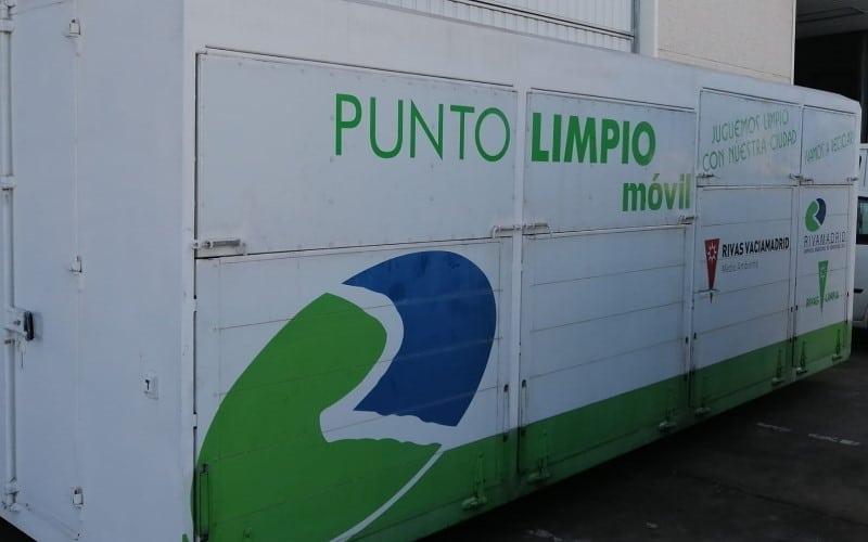 El punto limpio móvil de Rivas (foto: Rivamadrid)