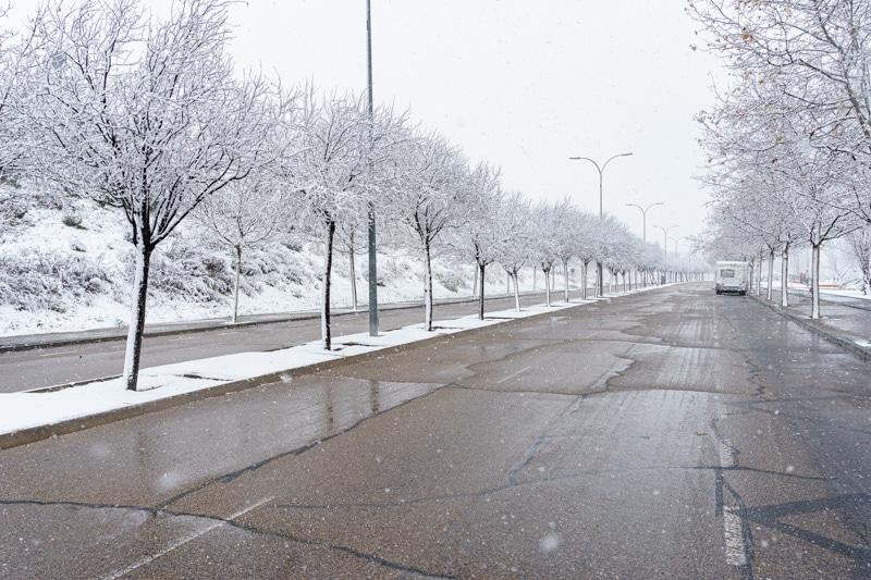 Nevada nieve en Rivas Vaciamadrid, 7 de enero de 2021 (©Fernando Galán)