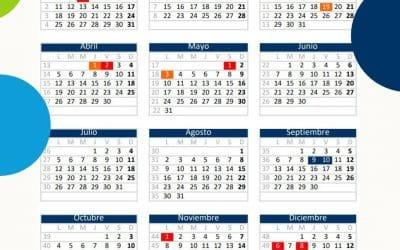 Calendario laboral y festivos de Rivas Vaciamadrid 2021