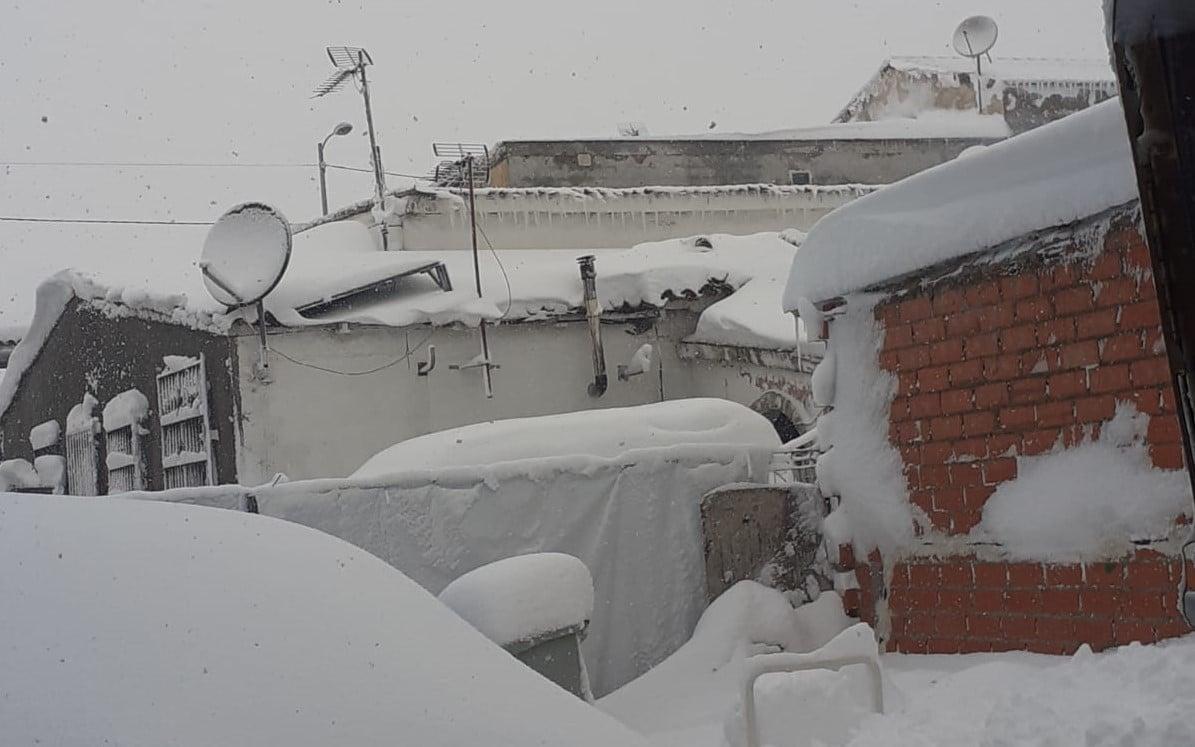 La Cañada Real, bajo la nieve