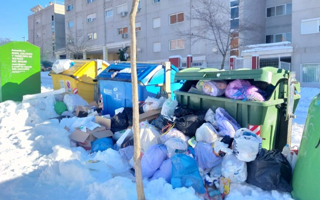 El Ayuntamiento de Rivas recomienda no sacar la basura todavía para evitar que rebosen los contenedores