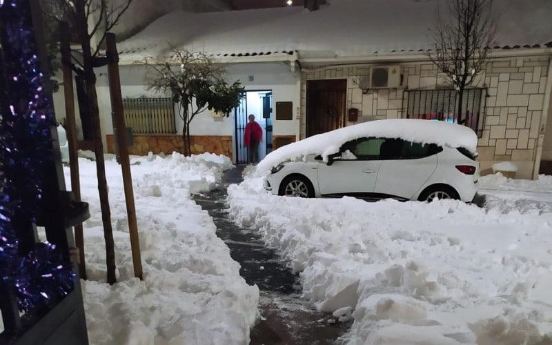 El pueblo de Rivas Vaciamadrid, bajo la nieve