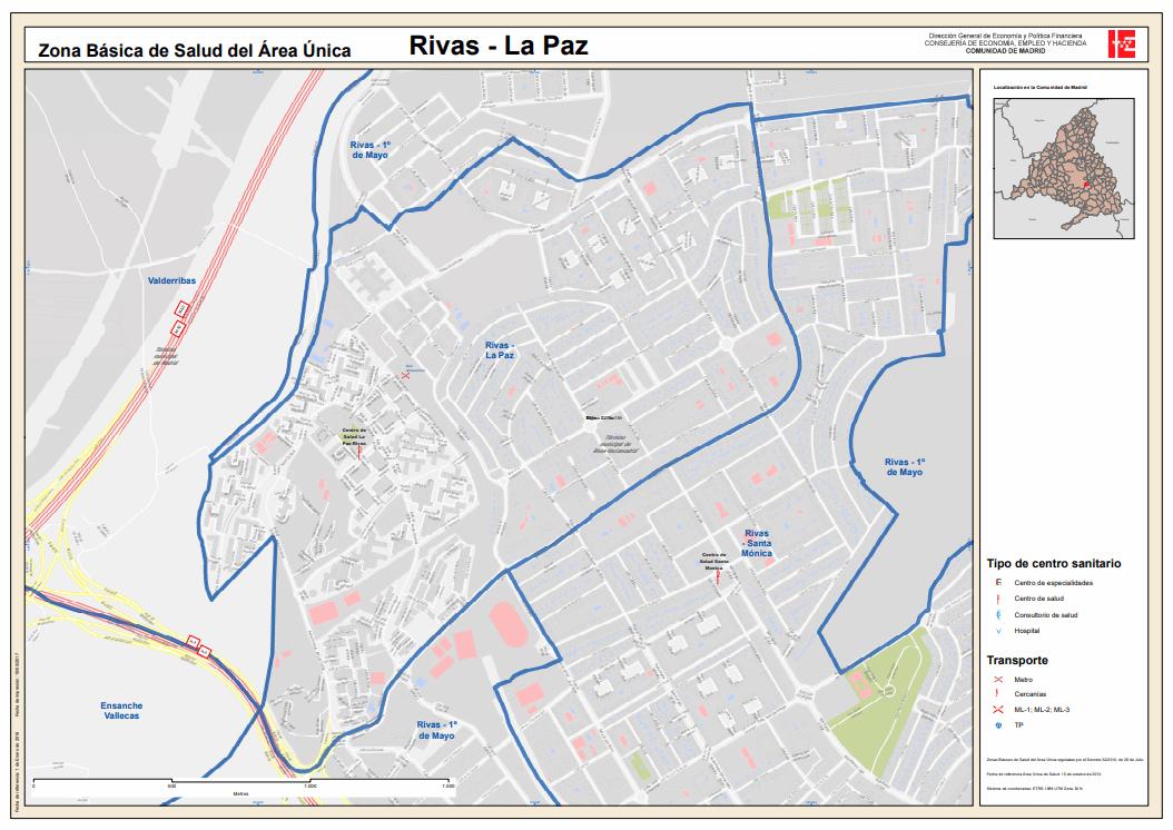 Zona básica de salus La Paz Rivas Vaciamadrid