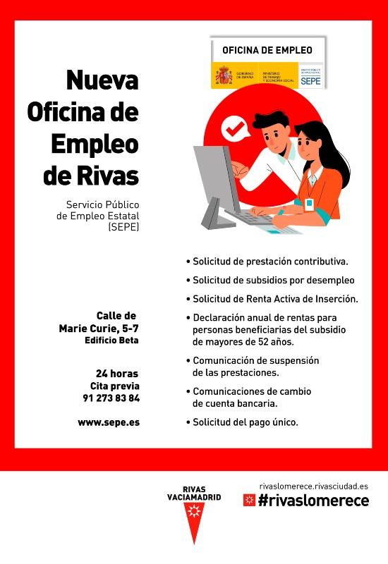 Servicios de la oficina del SEPE en Rivas