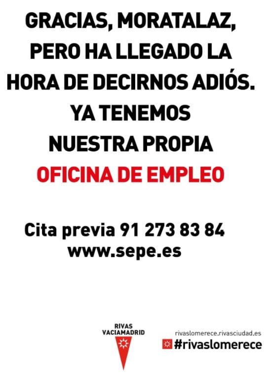 Cartel Moratalaz oficina de empleo Rivas