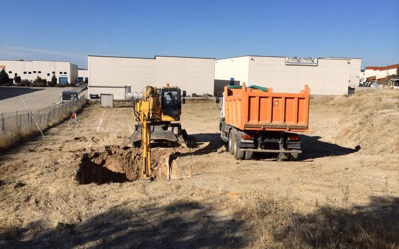 Inicio de las obras de las instalaciones de Iluscar en Rivas (calle Fundición)