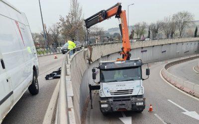 Restablecido el tráfico en ambos sentidos en el túnel de Rivas oeste
