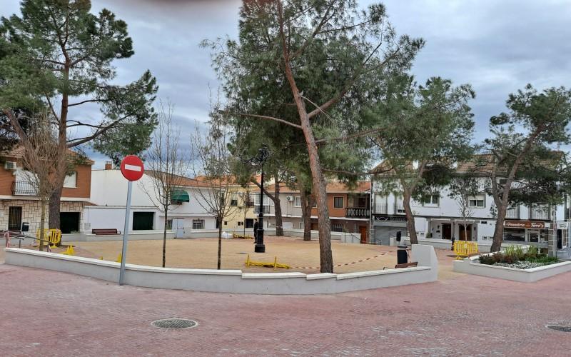 Nuevo aspecto de la plaza del Casco Urbano de Rivas Vaciamadrid