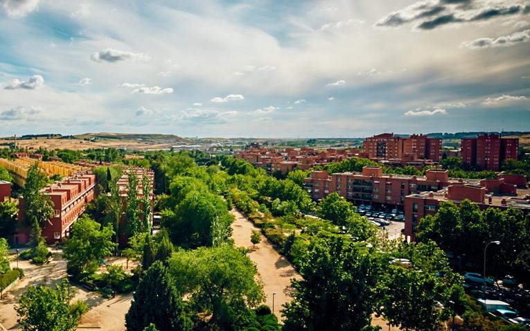 Vista aérea de Rivas Vaciamadrid árboles