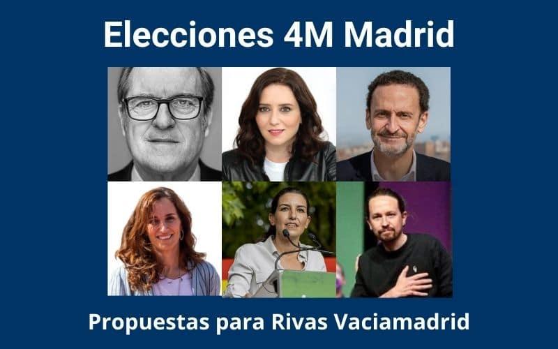 Elecciones 4M Madrid - propuestas para Rivas Vaciamadrid