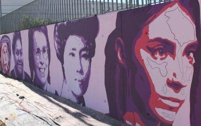 El mural feminista de Unlogic Crew en Rivas Vaciamadrid cobra forma