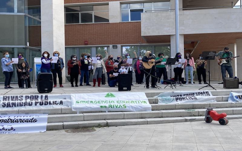 Varias asociaciones de Rivas llaman a votar «por lo público» el 4-M
