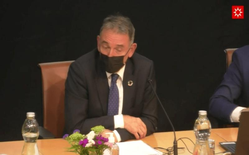 Enrique Santiago, secretario de Estado de Agenda 2030, en la presentación del Plan de Economía Circular en Rivas Vaciamadrid