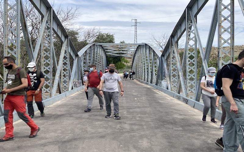 Puente de la Paz, límite del término entre Arganda del Rey y Rivas Vaciamadrid