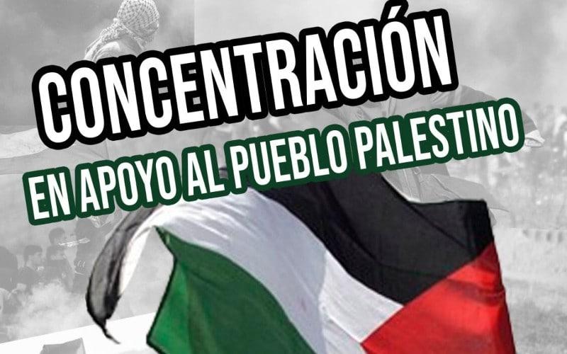 Concentración en apoyo al pueblo palestino