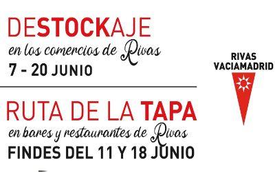 Una campaña de 'Destockaje' y Feria de la Tapa de primavera invita a disfrutar el comercio y la hostelería de Rivas