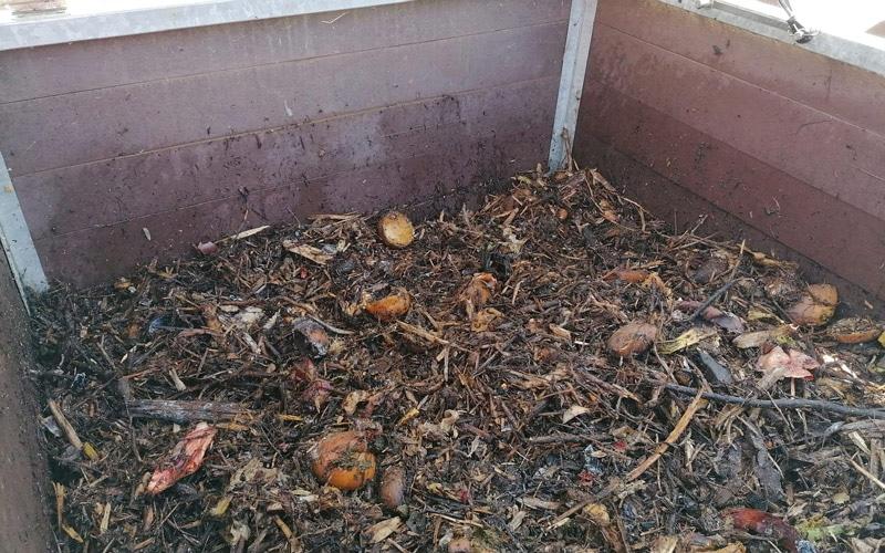 Imagen del material durante el proceso de compostaje (foto: Ayuntamiento de Rivas Vaciamadrid)