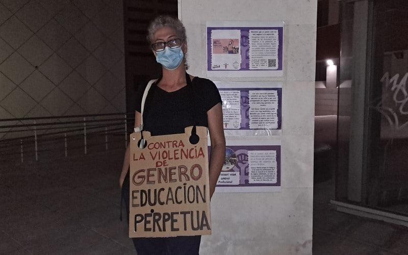 Concentración tras los últimos asesinatos machistas en Rivas Vaciamadrid, este 11 de junio (©Diario de Rivas)