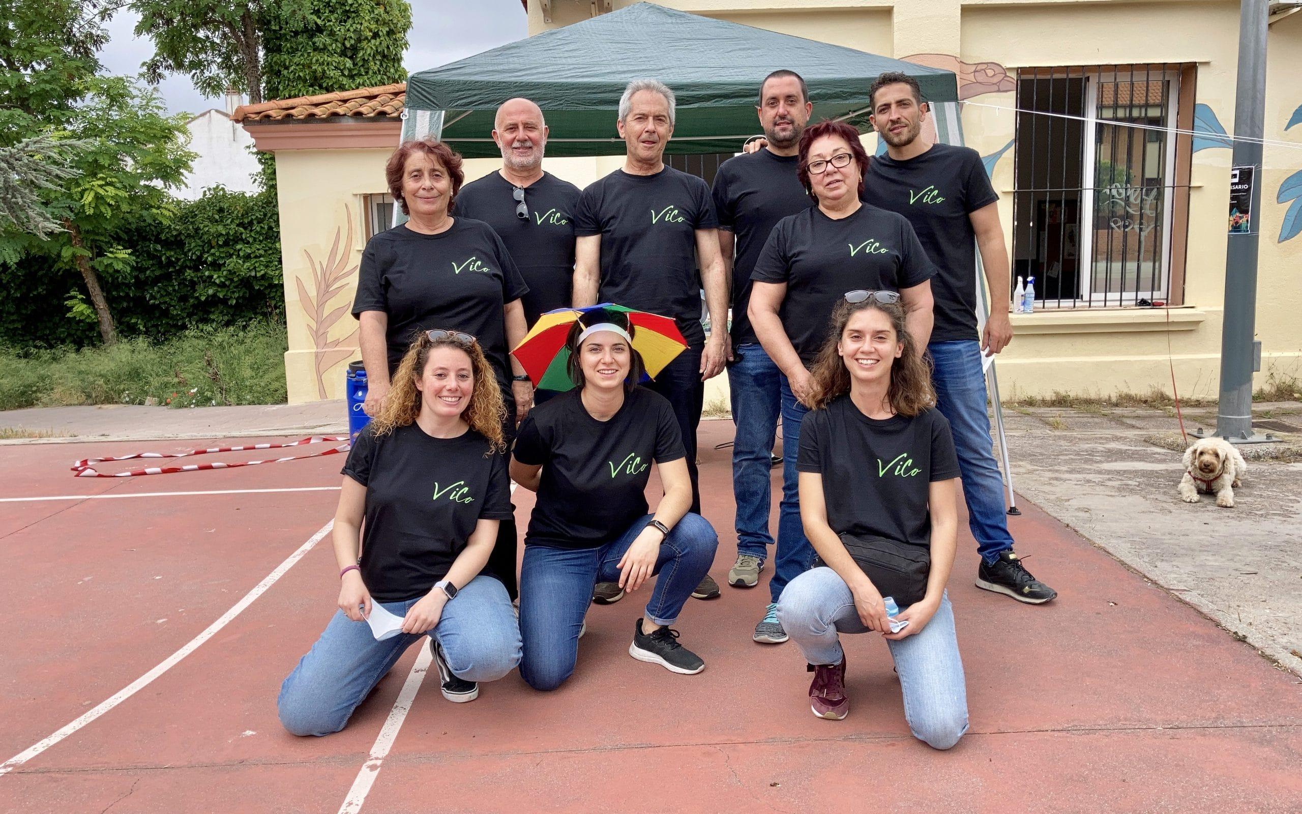 Miembros de la asociación Vico durante la celebración en la Casa de Asociaciones del Casco Antiguo de Rivas Vaciamadrid