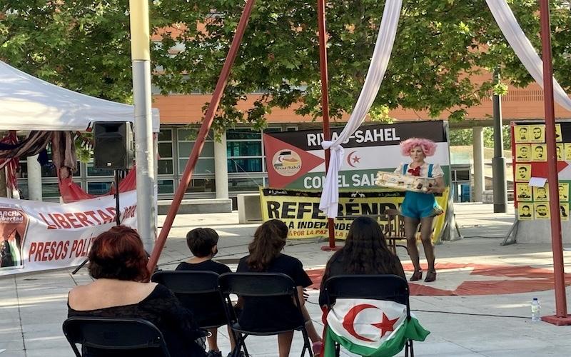 Marcha por la libertad del pueblo saharaui en la Plaza de la Constitución de Rivas
