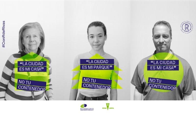 Campaña de Rivamadrid 'La ciudad no es tu contenedor'