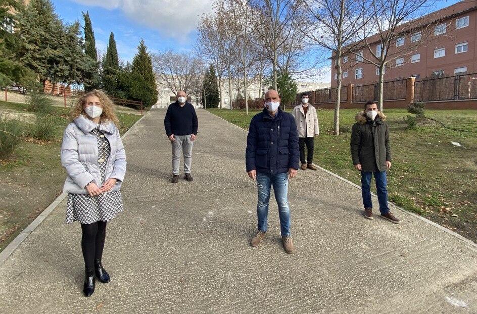 Teresa Cintora, Luis Mas, Bernardo González, Jorge Badorrey y Roberto de la Hoz, concejales de Ciudadanos en el Ayuntamiento de Rivas Vaciamadrid