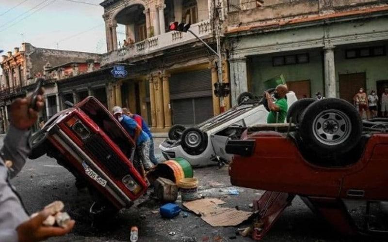 Disturbios en Cuba