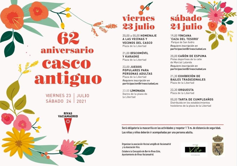 Programa Fiestas Casco Antiguo Rivas 2021