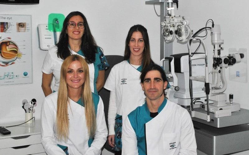 Equipo de Atenea Optometría de Rivas